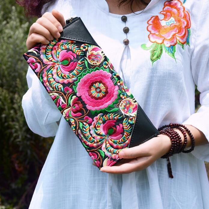 ab2c591225b46 ستايسي حقيبة 041416 حار بيع نمط العرقية الإناث التطريز الأزهار اليوم الفاصل  سيدة حقيبة مغلف