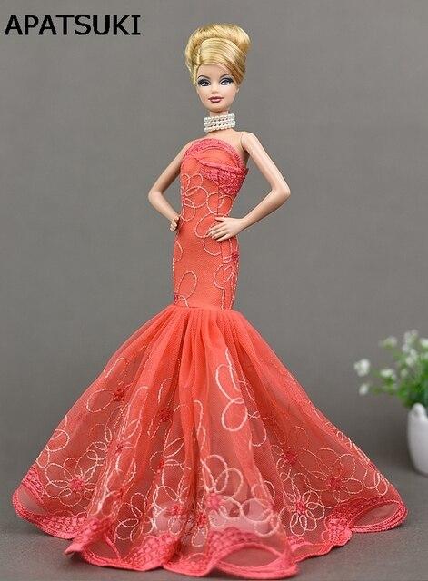 best loved f0d9b cfc85 US $4.28 35% di SCONTO|Fashion Doll Dress Sexy Signora Elegante Abito  Fishtail Per Barbie Doll Abiti Vestiti Per 1/6 BJD Abiti Da Sirena  Giocattolo ...