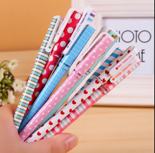 10pcs/lot flower happy day gel pen / New Fashion stationery gift pens with PVC packaging  zakka Office school supplies