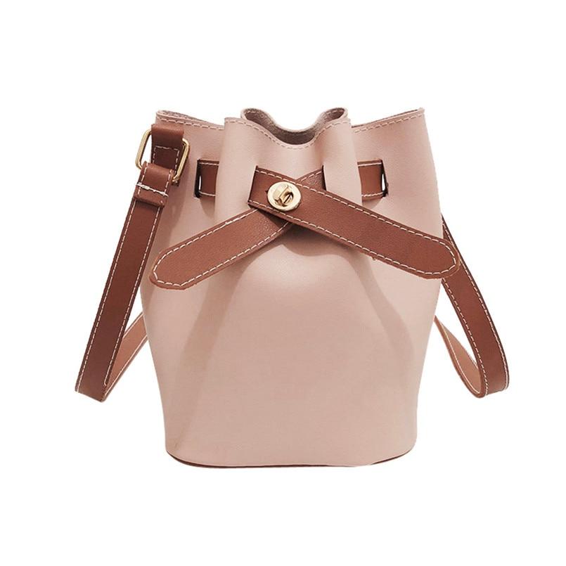 New Arrival Women Leather Pure Color Shoulder Bag Ladies Vintage Crossbody Bag Purse Satchel Phone Crossbody Bag 2018 bolsos S
