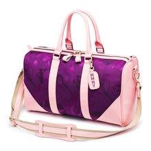 Купить с кэшбэком Comouflage Oxford Crossbody Bag Women For Gym Pure Cowhide Fitness Luggage Travel Bags Lady Outdoor Training Handbag Yoga Bags