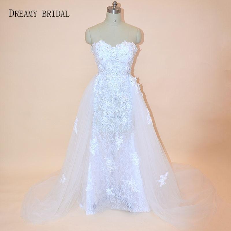 Bridal Detachable Train: Dreamy Bridal Arabic Wedding Dresses With Detachable Train