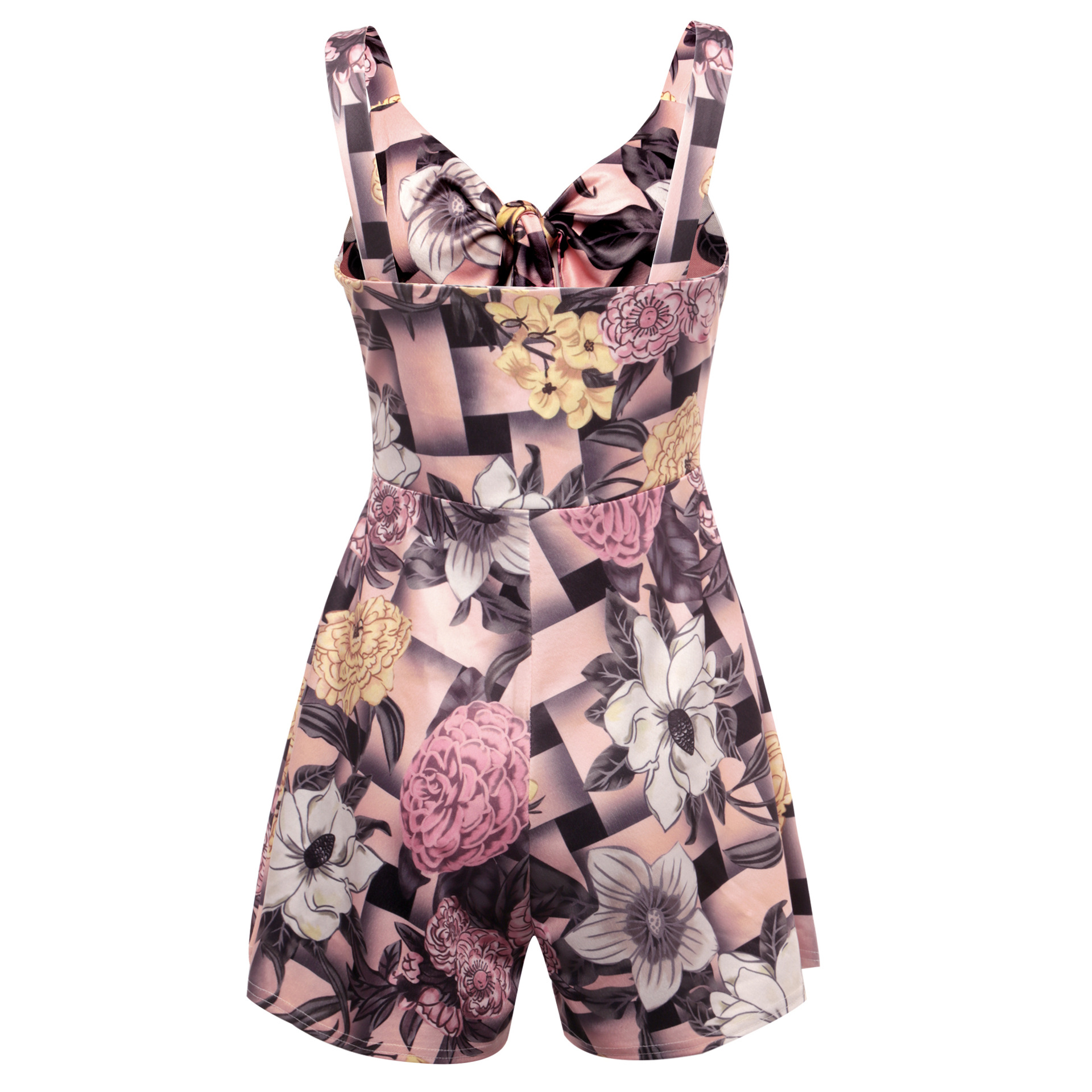 Women's Summer Print Jumpsuit Shorts Casual Loose Short Sleeve V-neck Beach Rompers Sleeveless Bodycon Sexy Party Playsuit 102