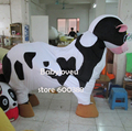 High quality Adult size Cartoon Mascot Costume 2 person wear cattle cow mascot cosplay halloween costume christmas Crazy Sale