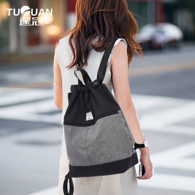 2017 New TUGUAN Brand Women Fashion Canvas Backpacks Korean Style Functional Men School Backpacks Leisure Bags Shopping Totes 2017 new korean style tuguan brand unisex men 15 6 laptop school backpacks women fashion school bags for teenager boys and girls