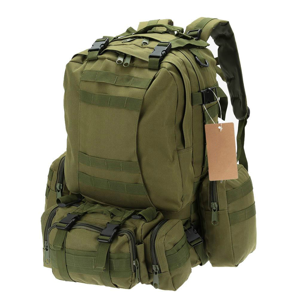 50L Camping Bags Outdoor Military Molle Tactical Bag Rucksack Backpacks Vintage Hiking Camouflage Water Resistant 600D large camping backpack molle tactical military rucksack outdoor sports bag waterproof hiking hunting backpacks camouflage x242wa