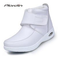Plardin 2017 Four Seasons Woman Pure White Nurse Shoes Women Platform Soft Twist Braid Strap Air