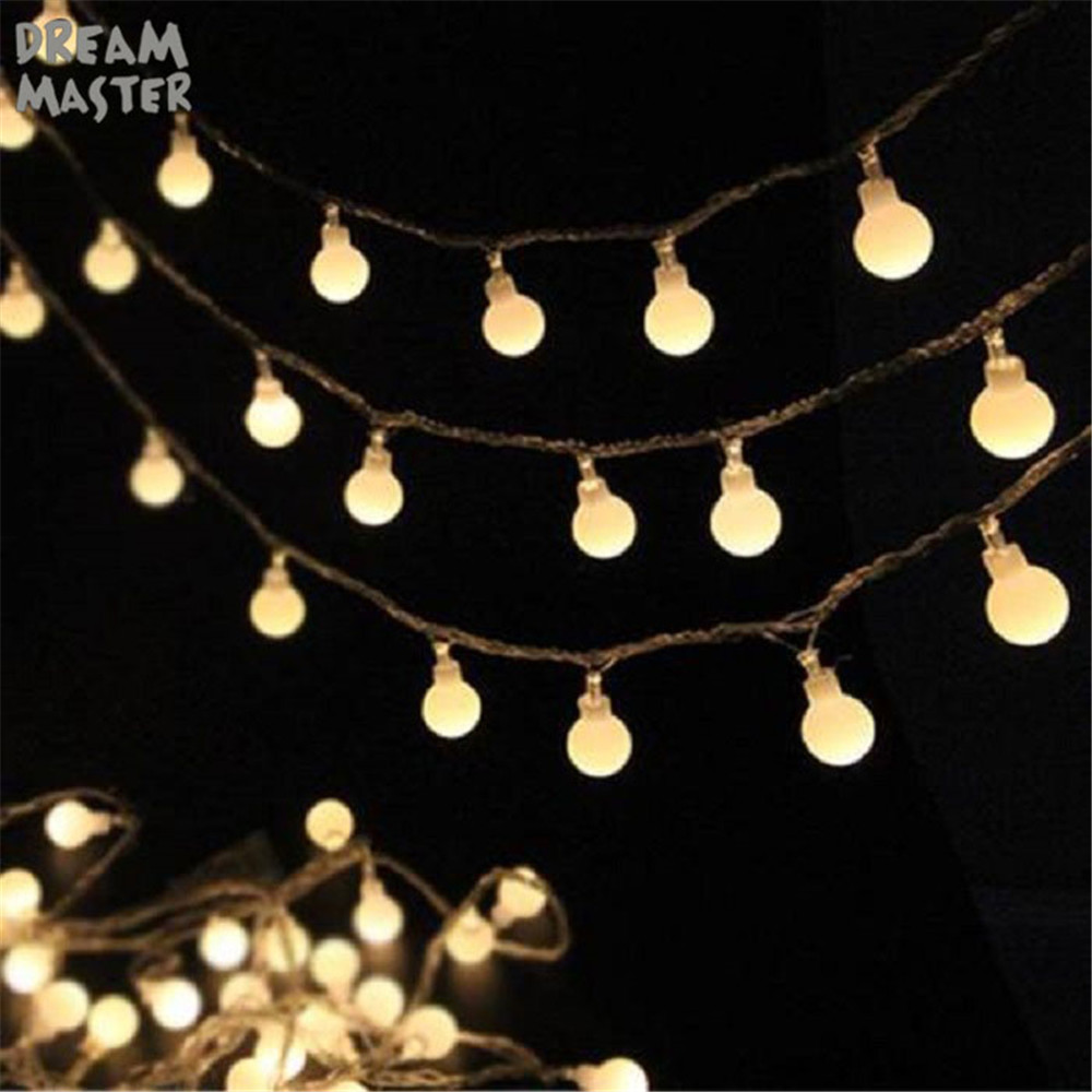 Battery USB DC5V Crystal Ball 10 20 30 40 LED Globe String Lights Led Starry Fairy Twinkle Waterproof Light String For Patry