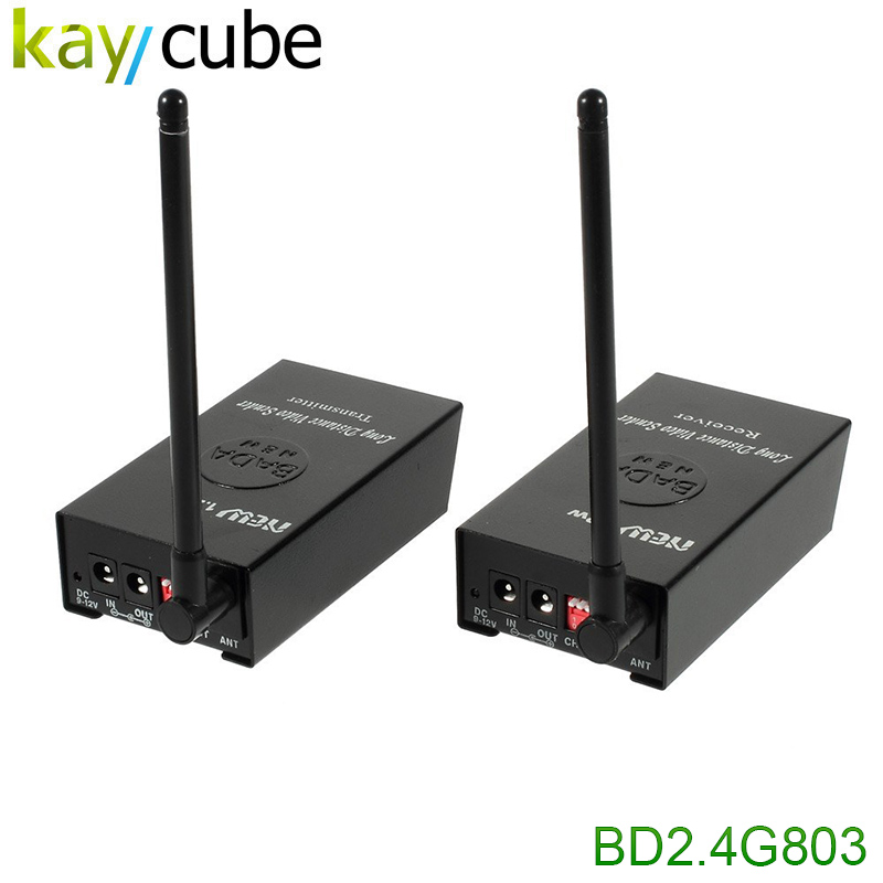 BADA 2.4GHz 1.2W Wireless Audio Video Transmitter and Receiver for DVD/DVR/CCD Camera 2.4G 1200MW Sender Adapter 100m-200m