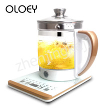 Fully Automatic Electric Kettle Thickened Glass Health Pot Haptic Smart Appointment 1.8L High Capacity Temperature Display Cook