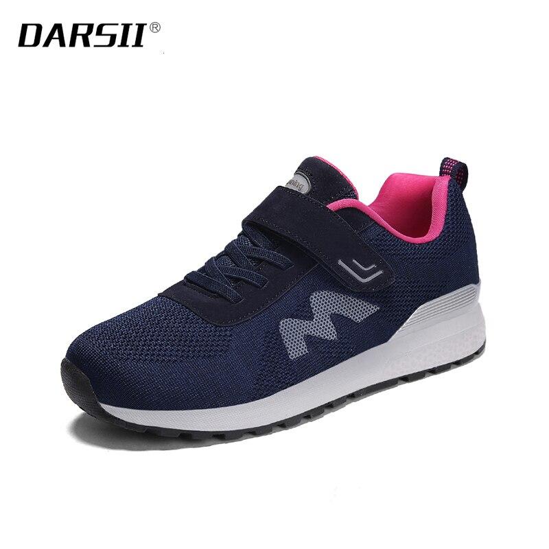 86457d860fc Cheap Zapatos casuales transpirables antideslizantes con cordones de malla  de moda de punta redonda para mujer