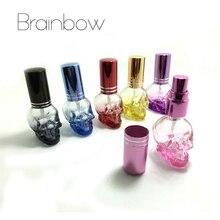 Brainbow 1pc 8ml 3D Skullcandy Perfume Bottle Mini Portable Travel Refillable Perfume Atomizer Bottle For Spray Scent Pump Case