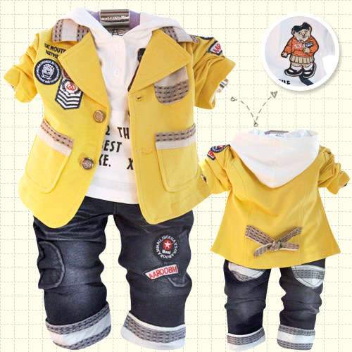 Anlencool Free shipping Attitude baby boy Valley Korean version of the leisure suit baby boy clothing set spring baby clothing