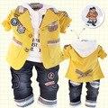 Atitude Anlencool Frete grátis baby boy Vale versão Coreana do terno do lazer conjunto de roupas de bebê menino primavera roupas de bebê