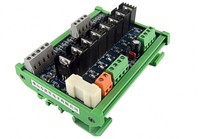 DC12 24V 8 channel PLC DC amplifier board MOS tube anti surge plc industrial control board