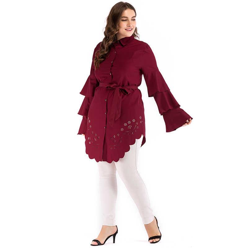 c78efd8a213af Plus Size 5XL 2019 Arabic Turkey Women Muslim Long Top Shirt Abaya Saudi  Arabe Long Tops Ropa Musulmana Mujer Islamic Clothing