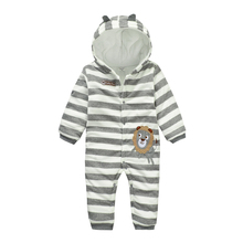 6003 Aosta Betty Baby Rompers Top Quality Cotton Thickening Clothes Cute Cartoon Tiger Onesie for Baby Lovely Hooded Baby Winter