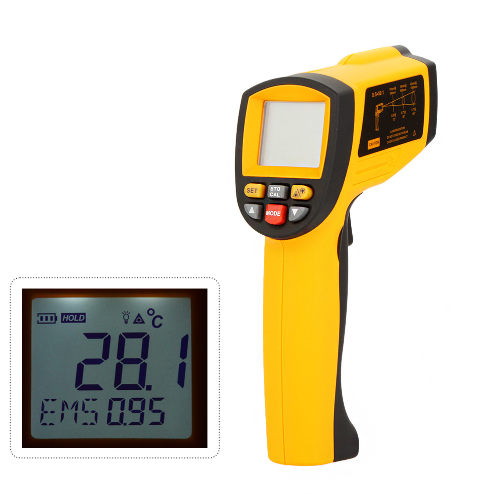 New Original High Quality Digital Infrared IR Thermometer Laser GM1150A Temperature LCD Gun Tester Range -18~1150 Celsius Degree