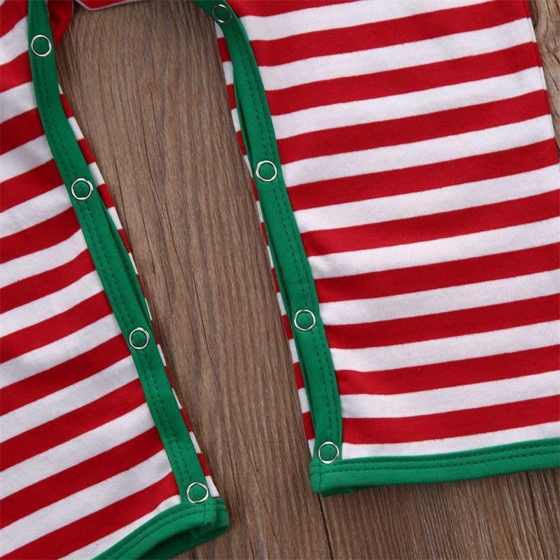 Striped Newborn Baby Long Sleeve Rompers