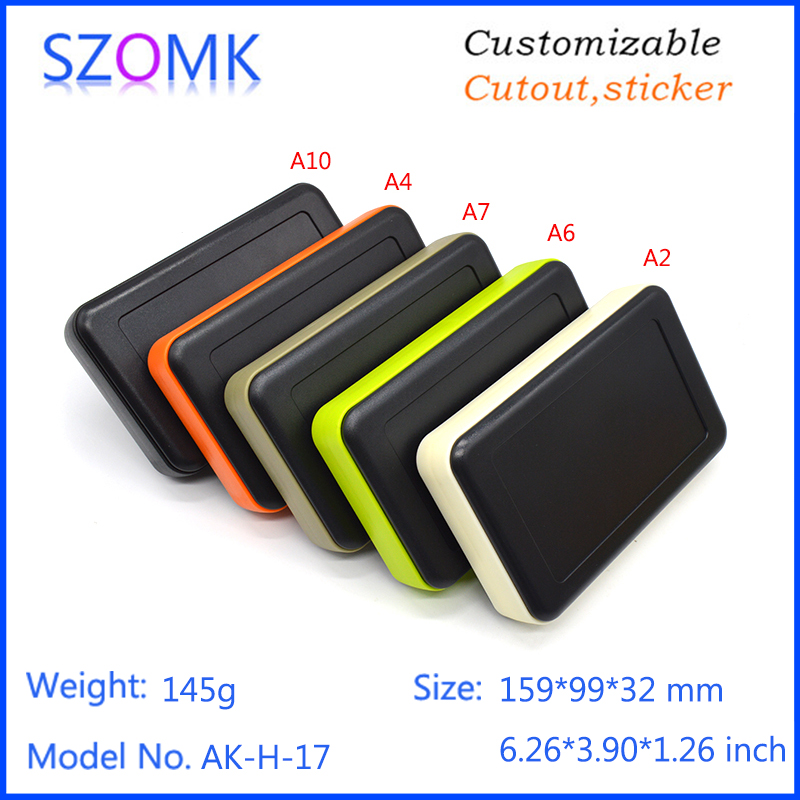 1 piece 159*99*32mm szomk wholesare plastic electrical project box handheld enclosure instrument housing GPS tracker new 1 piece free shipping electrical box case project electric distribution box desktop enclosure 210x104x44mm