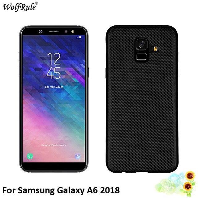 For Cover Samsung Galaxy A6 2018 Case Soft Silicone Bumper Phone