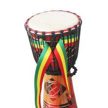 1 pc  Drum Strap Belt Tambourine Djembe Cotton Rainbow W50mm L3200mm