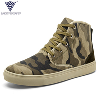 WEST SCARP Fashion Sneakers Men Canvas Shoes High Top Men Casual Shoes Spring Autumn Winer Sapato
