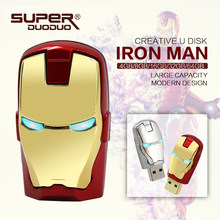 Drives Flash USB GB 64 32 GB Avengers marvel homem de ferro Flash usb stick 8 GB 16 GB usb 2.0 chave LEVOU Luz do Flash memory stick pendrives(China)
