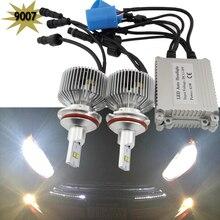 2x 9004 HB1 9007 HB5 Lumileds LED Headlight 90W 9000LM 12V DC Car LED Headlights Bulb Head Lamp Fog Light Pure White 6500K