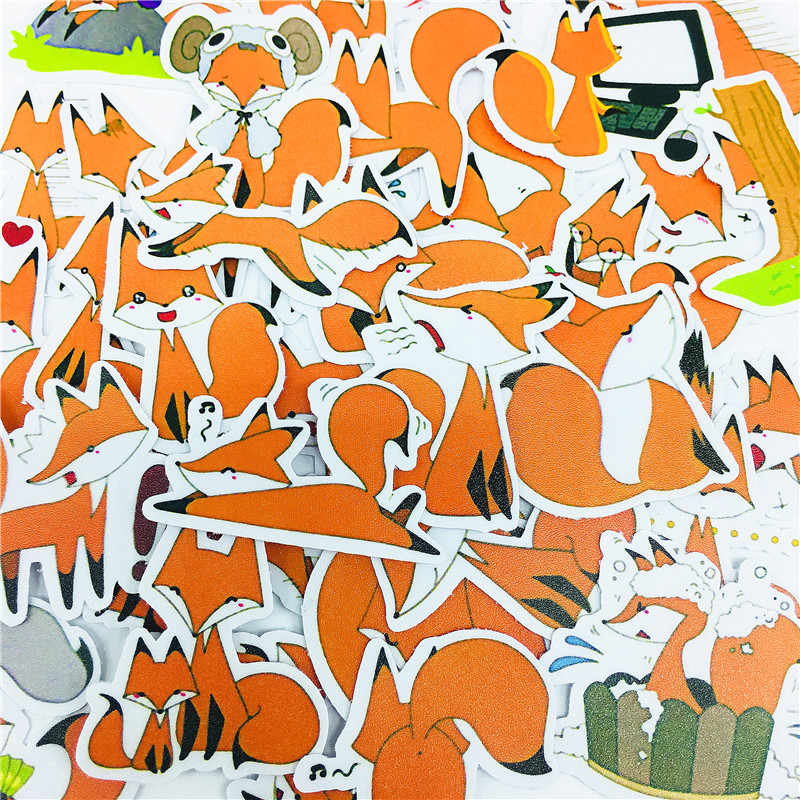 38 stks Cartoon leuke gele little fox Stickers Ambachten En Scrapbooking stickers boek Student label Decoratieve sticker kinderen speelgoed