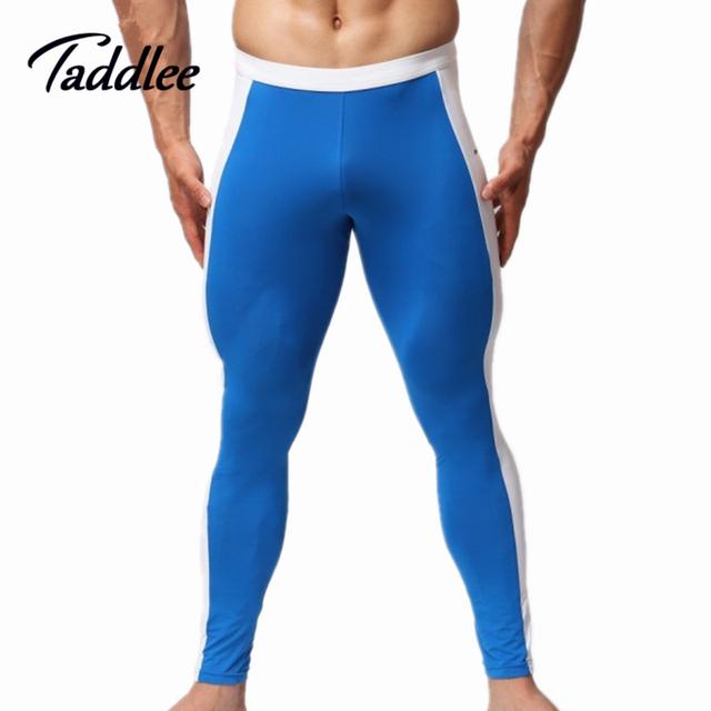 Taddlee marca mens swimwear sexy calças compridas apertadas calcinha homem homem quente calças dos homens de verão bottoms calças maiôs