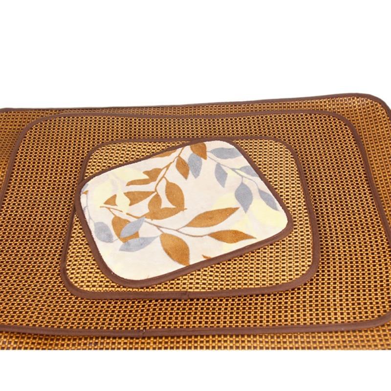 Самоохлаждением коврик собака Pad для питомников ящики и кровати Бамбук льда коврик для поддержания охладитель мат собак спальный поставки