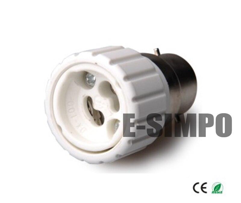 B22 to Gu10 lamp base adapter Bayonet base to Gu10 light socket adapter CE Rohs Allow you install Gu10 lamp into B22 socket
