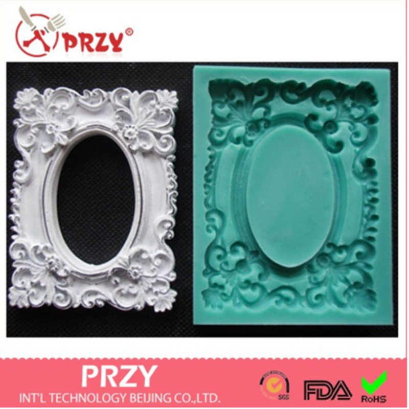 Picture frame silicone fandont mold Silica gel moulds frames Chocolate molds candy mould silicone molds frame gumpaste moulds
