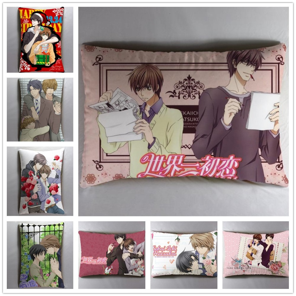 Anime Manga Sekai Ichi Hatsukoi  40*60cm Pillow Case Cover Seat Bedding Cushion 001