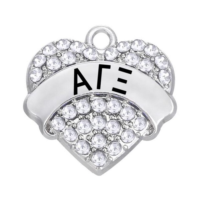 Jewelry Making Greek Letters ALPHA PHI ALPHA Charms & Pendants With Crystal Rhinestone Silver Plating Bulk