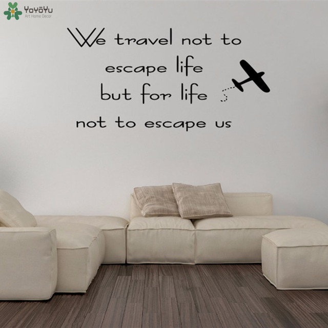 yoyoyu wall decal travelling quotes vinyl wall stickers air plane