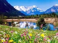 Modo libero di trasporto decorazione del Tessuto, Bellissimo Paesaggio di Montagna all'ingrosso appeso A Parete, Arazzi Gobelin arazzo