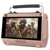 With display wireless HD video player speaker MP4 player outdoor home karaoke portable FM radio Bluetooth speaker ktv card MP3