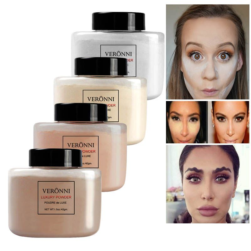 New 4 Colors Smooth Loose Powder Makeup Transparent Finishing Waterproof Cosmetic For Face Finish Setting