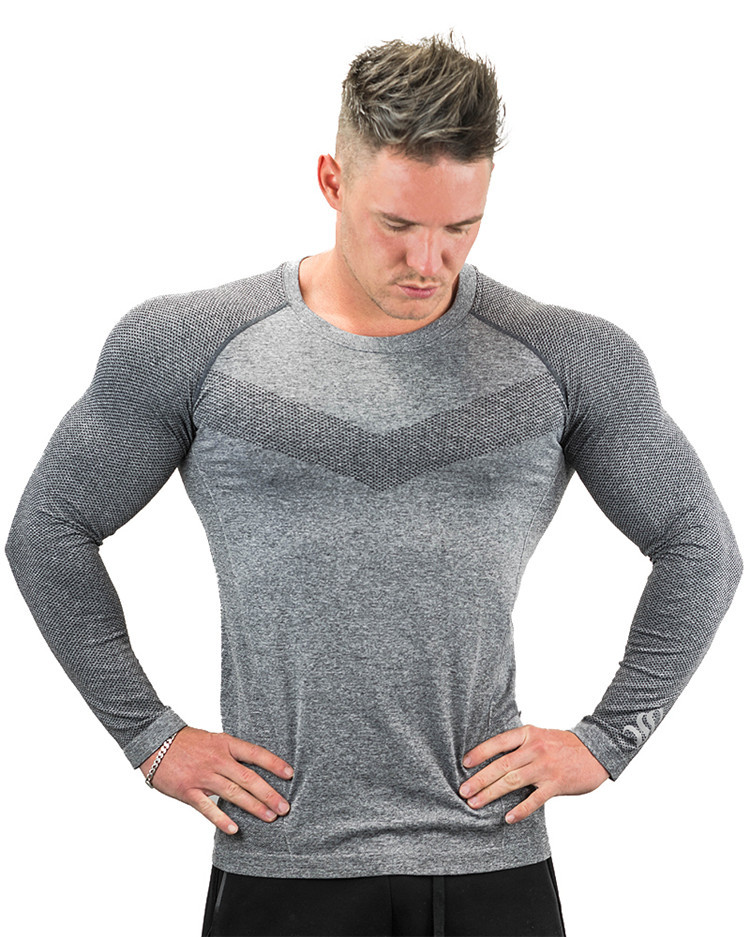 Long Sleeve Sport T Shirt Men Running T shirts Gym Sports Clothing Sport Top Men's Sportswear