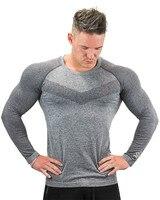 Long Sleeve Sport T Shirt Men Running T shirts Gym Sports Clothing Sport Top Men's Sportswear