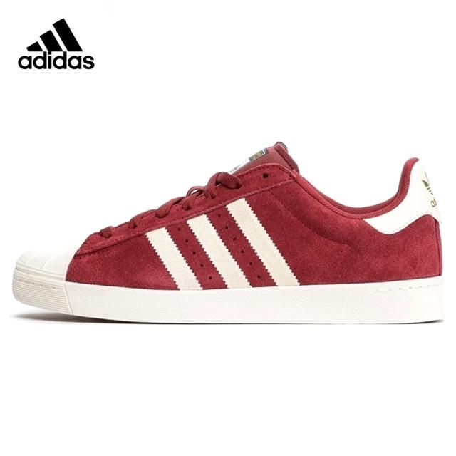 Adidas Trèfle Superstar Vulc ADV Homme Planche À Roulettes Chaussures, vin  Rouge, Non-