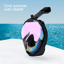 Diving Mask Underwater Anti fog panoramic Fold Electroplate Full Face Snorkel Mask Swimming Mask Snorkeling Mask Scuba Glasses все цены