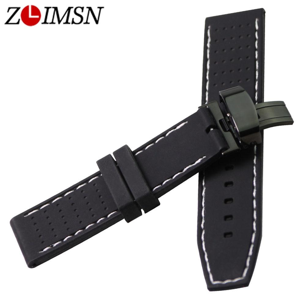 ZLIMSN 22mm Sport Wasserdicht Silikon Gummi Armband Schmetterling - Uhrenzubehör - Foto 3
