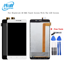 Blackview A8 max LCD Display and Touch Screen Original 5.5inch Screen Digitizer Assembly Replacement For Blackview A8max +Tools  black for blackview a8 max lcd display