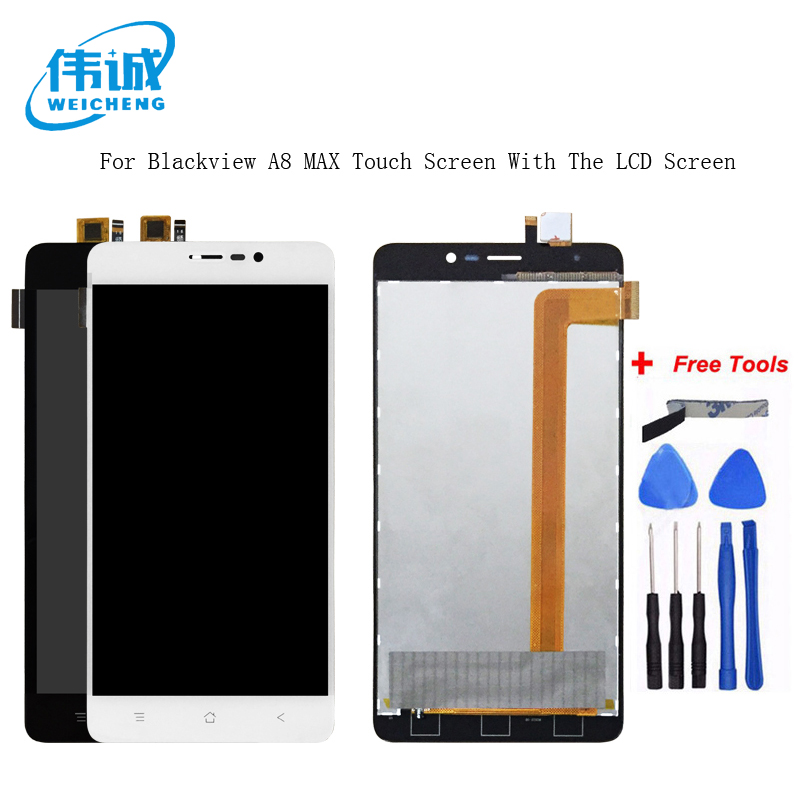 WEICHENG For Blackview <font><b>A8</b></font> Max LCD <font><b>Display</b></font>+Touch Screen 5.5inch Screen for Blackview <font><b>A8</b></font> Max Digitizer Assembly +Free Tools image