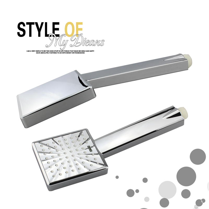 ABS Square Handheld Rainfall Shower Head water Saving High Pressure Chrome Plating hsh0013a