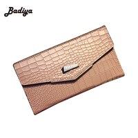 2016 New Crocodile Grain Long Women Wallets PU Leather Wallets Embossed Design Portefeuille Female Wallets Clutch