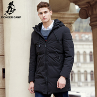 Pioneer Camp New Arrival Long Winter Duck Down Jacket Men Top Quality Brand Men Thick Warm